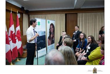 Justin Trudeau 4-H Canada
